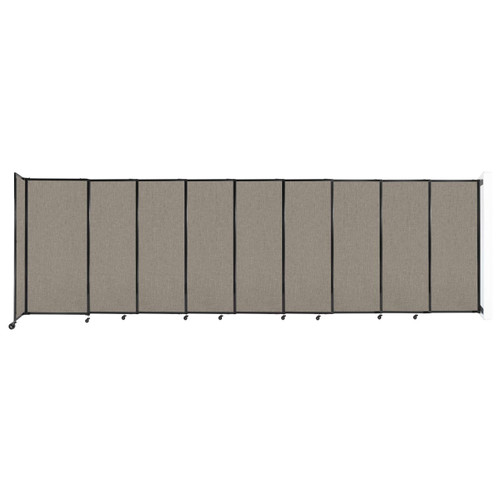 """Wall-Mounted StraightWall Sliding Partition 19'9"""" x 6' Warm Pebble Fabric"""