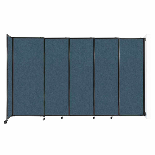 """Wall-Mounted StraightWall Sliding Partition 11'3"""" x 6'10"""" Caribbean Fabric"""