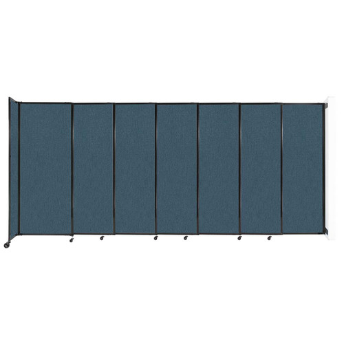 """Wall-Mounted StraightWall Sliding Partition 15'6"""" x 6'10"""" Caribbean Fabric"""