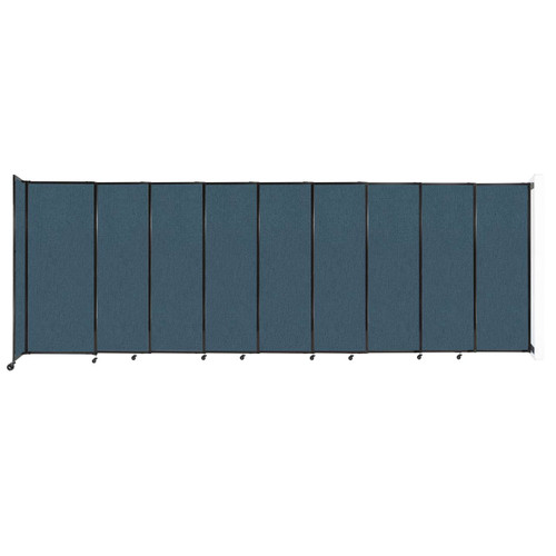 """Wall-Mounted StraightWall Sliding Partition 19'9"""" x 6'10"""" Caribbean Fabric"""