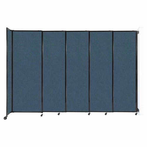 """Wall-Mounted StraightWall Sliding Partition 11'3"""" x 7'6"""" Caribbean Fabric"""