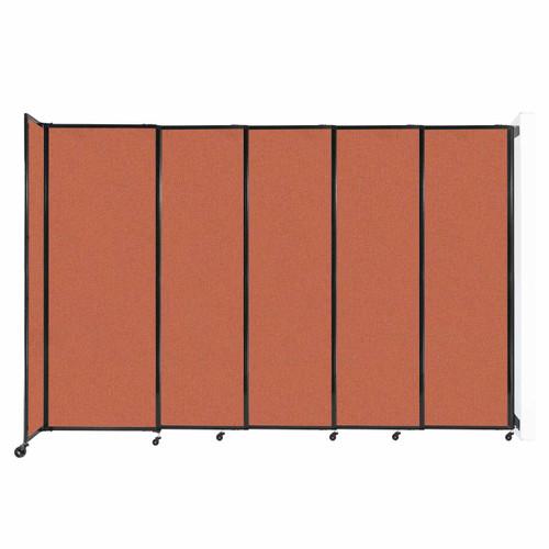 "Wall-Mounted StraightWall Sliding Partition 11'3"" x 7'6"" Papaya Fabric"