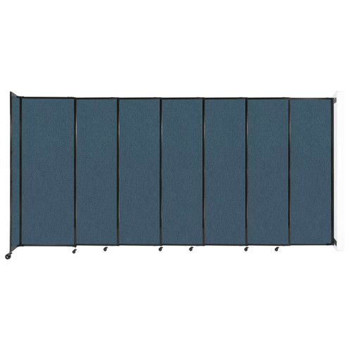 """Wall-Mounted StraightWall Sliding Partition 15'6"""" x 7'6"""" Caribbean Fabric"""