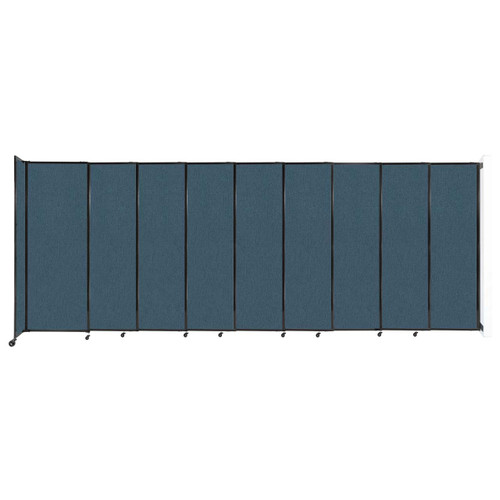"""Wall-Mounted StraightWall Sliding Partition 19'9"""" x 7'6"""" Caribbean Fabric"""