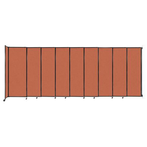 "Wall-Mounted StraightWall Sliding Partition 19'9"" x 7'6"" Papaya Fabric"