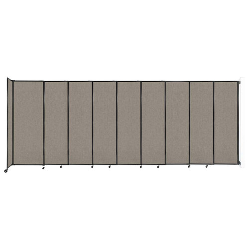 """Wall-Mounted StraightWall Sliding Partition 19'9"""" x 7'6"""" Warm Pebble Fabric"""
