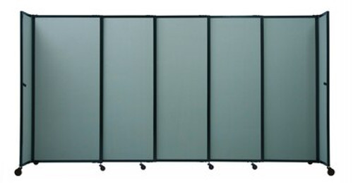 """The Bullet Resistant Portable Shield Partition 19'9"""" x 6'10"""" Cerulean Fabric"""