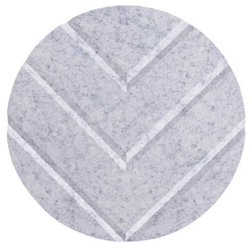"Wall-Mounted SoundSorb Acoustic 12"" Chevron Circle Marble Gray High Density Polyester"