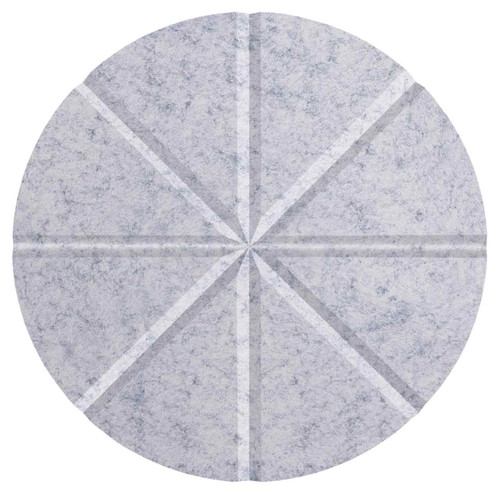 "Wall-Mounted SoundSorb Acoustic 12"" Star Circle Marble Gray High Density Polyester"