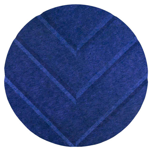 "Wall-Mounted SoundSorb Acoustic 12"" Chevron Circle Blue High Density Polyester"