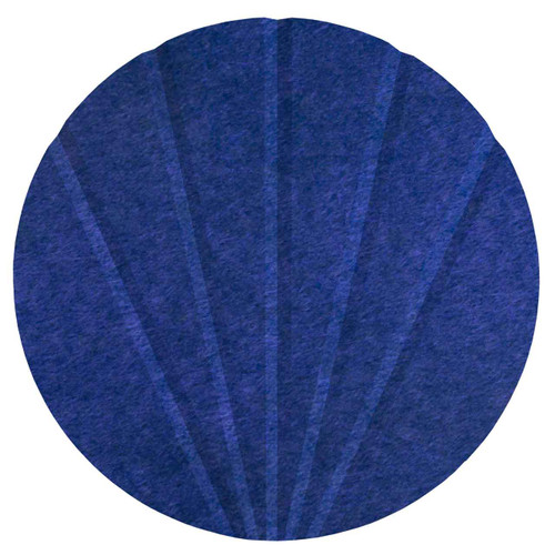 "Wall-Mounted SoundSorb Acoustic 12"" Fan Circle Blue High Density Polyester"