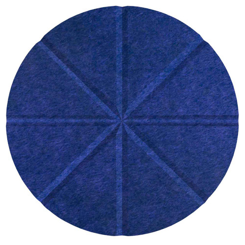 "Wall-Mounted SoundSorb Acoustic 12"" Star Circle Blue High Density Polyester"