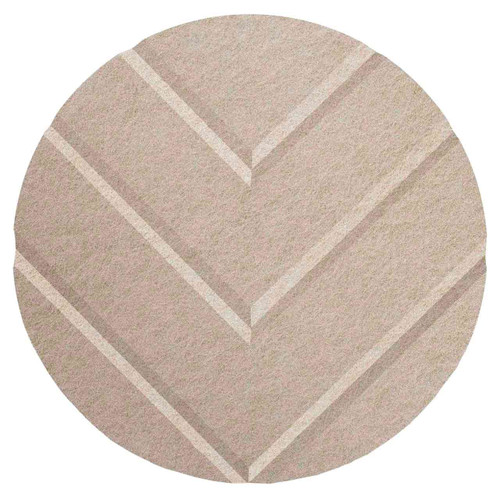 "Wall-Mounted SoundSorb Acoustic 12"" Chevron Circle Beige High Density Polyester"