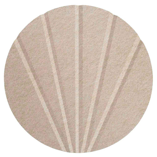 "Wall-Mounted SoundSorb Acoustic 12"" Fan Circle Beige High Density Polyester"