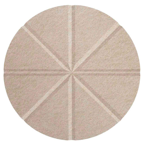 "Wall-Mounted SoundSorb Acoustic 12"" Star Circle Beige High Density Polyester"