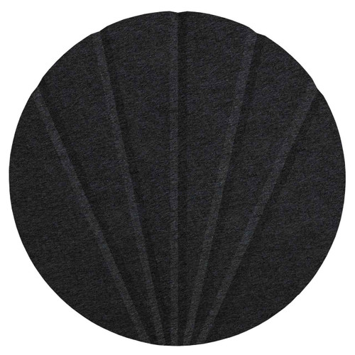 "Wall-Mounted SoundSorb Acoustic 12"" Fan Circle Black High Density Polyester"