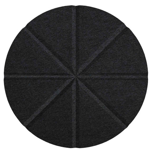 "Wall-Mounted SoundSorb Acoustic 12"" Star Circle Black High Density Polyester"