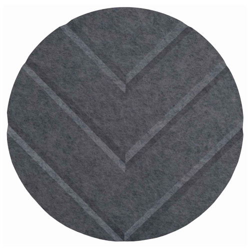 "Wall-Mounted SoundSorb Acoustic 12"" Chevron Circle Dark Gray High Density Polyester"