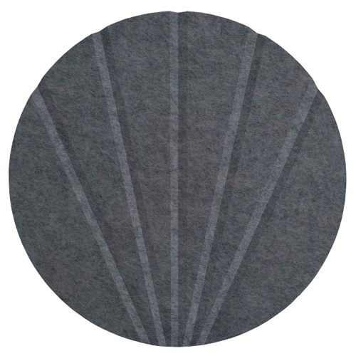 "Wall-Mounted SoundSorb Acoustic 12"" Fan Circle Dark Gray High Density Polyester"