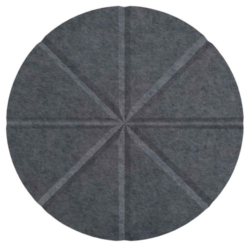 "Wall-Mounted SoundSorb Acoustic 12"" Star Circle Dark Gray High Density Polyester"