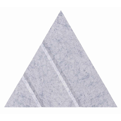 "Wall-Mounted SoundSorb Acoustic Panels 12"" Arrow Triangle Marble Gray High Density Polyester"