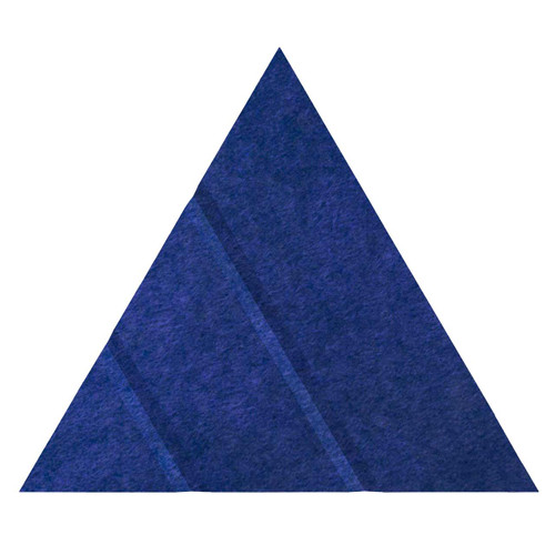 """Wall-Mounted SoundSorb Acoustic Panels 12"""" Arrow Triangle Blue High Density Polyester"""