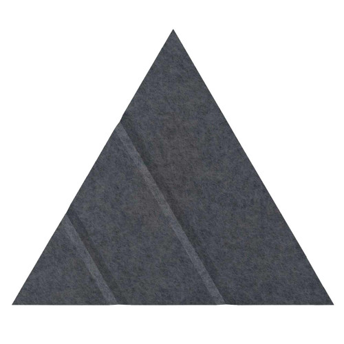 "Wall-Mounted SoundSorb Acoustic Panels 12"" Arrow Triangle Dark Gray High Density Polyester"