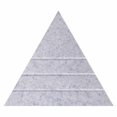 """Wall-Mounted SoundSorb Acoustic Panels 24"""" Peak Triangle Marble Gray High Density Polyester"""