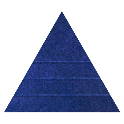 """Wall-Mounted SoundSorb Acoustic Panels 24"""" Peak Triangle Blue High Density Polyester"""