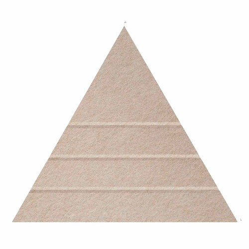 """Wall-Mounted SoundSorb Acoustic Panels 24"""" Peak Triangle Beige High Density Polyester"""
