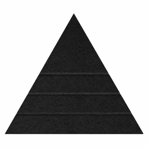 "Wall-Mounted SoundSorb Acoustic Panels 24"" Peak Triangle Black High Density Polyester"