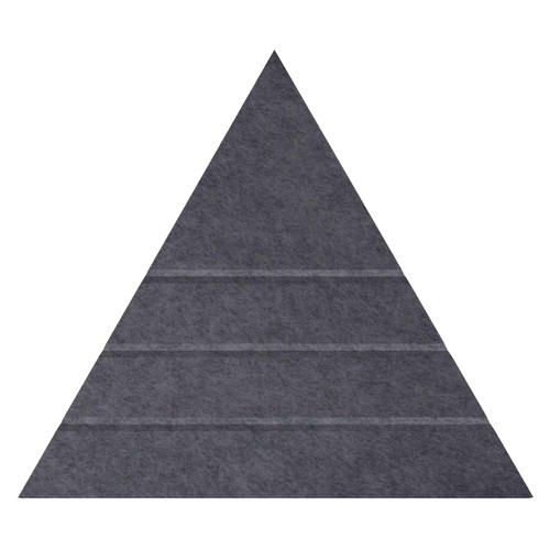 "Wall-Mounted SoundSorb Acoustic Panels 24"" Peak Triangle Dark Gray High Density Polyester"