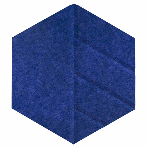 "Wall-Mounted SoundSorb Acoustic Panels 12"" Hexagon Skyway Blue High Density Polyester"