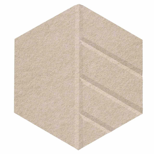 "Wall-Mounted SoundSorb Acoustic Panels 12"" Hexagon Skyway Beige High Density Polyester"