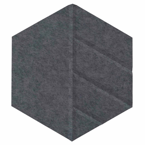 "Wall-Mounted SoundSorb Acoustic Panels 12"" Hexagon Skyway Dark Gray High Density Polyester"