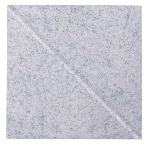 "Wall-Mounted SoundSorb Acoustic Panels 12"" Square Shoreline Marble Gray High Density Polyester"