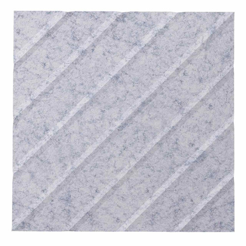 "Wall-Mounted SoundSorb Acoustic Panels 12"" Square River Marble Gray High Density Polyester"