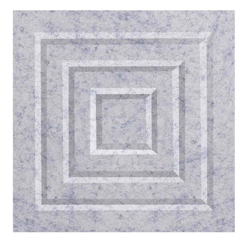 "Wall-Mounted SoundSorb Acoustic Panels 12"" Square Blocks Marble Gray High Density Polyester"