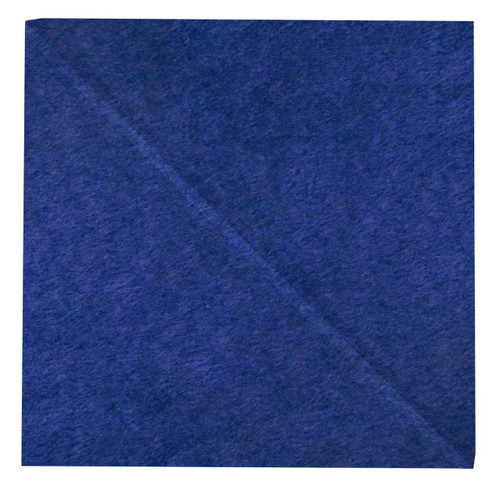 """Wall-Mounted SoundSorb Acoustic Panels 12"""" Square Shoreline Blue High Density Polyester"""