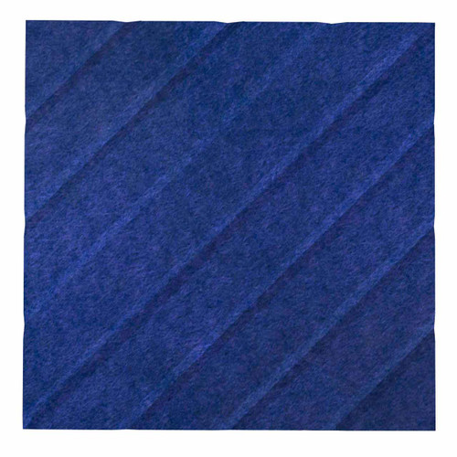 """Wall-Mounted SoundSorb Acoustic Panels 12"""" Square River Blue High Density Polyester"""