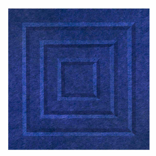 "Wall-Mounted SoundSorb Acoustic Panels 12"" Square Blocks Blue High Density Polyester"