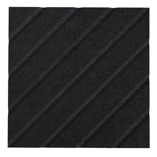 "Wall-Mounted SoundSorb Acoustic Panels 12"" Square River Black High Density Polyester"