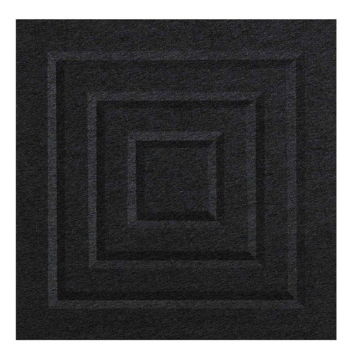 "Wall-Mounted SoundSorb Acoustic Panels 12"" Square Blocks Black High Density Polyester"