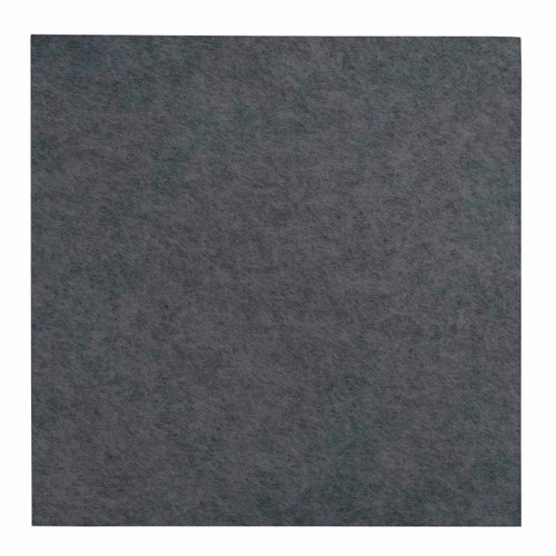 "Wall-Mounted SoundSorb Acoustic Panels 12"" Square Flat Dark Gray High Density Polyester"