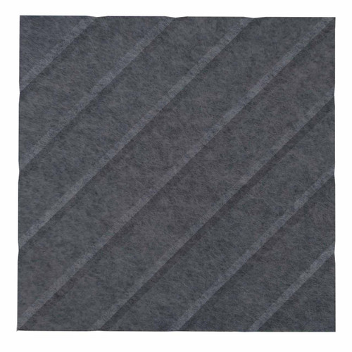 "Wall-Mounted SoundSorb Acoustic Panels 12"" Square River Dark Gray High Density Polyester"