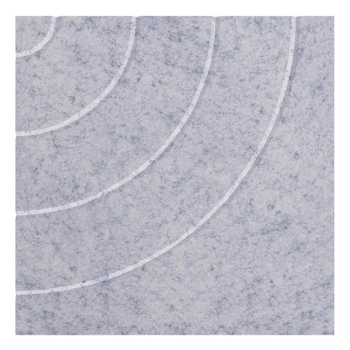 "Wall-Mounted SoundSorb Acoustic Panels 24"" Square Cloud Marble Gray High Density Polyester"