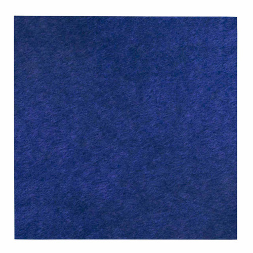 """Wall-Mounted SoundSorb Acoustic Panels 24"""" Square Flat Blue High Density Polyester"""