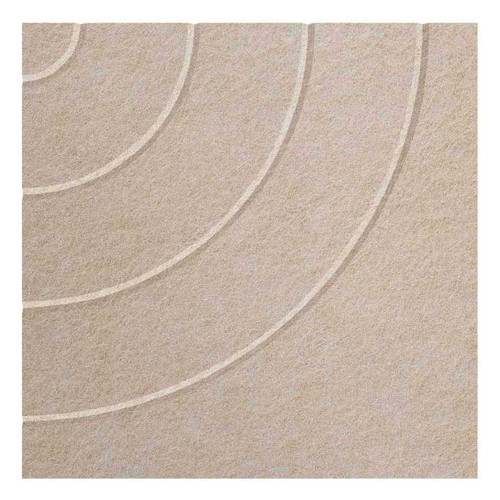 """Wall-Mounted SoundSorb Acoustic Panels 24"""" Square Cloud Beige Density Polyester"""