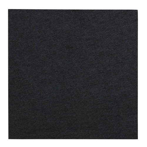 "Wall-Mounted SoundSorb Acoustic Panels 24"" Square Flat Black High Density Polyester"