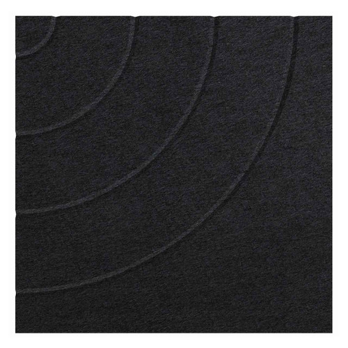 """Wall-Mounted SoundSorb Acoustic Panels 24"""" Square Cloud Black Density Polyester"""